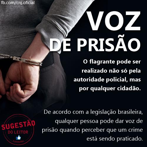 voz de prisão