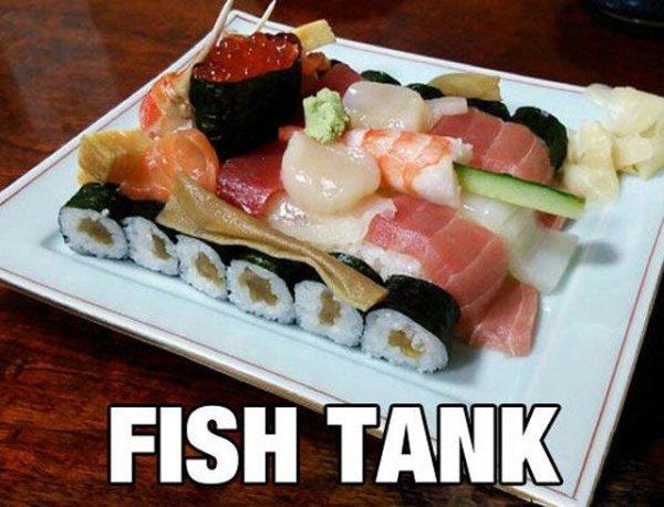 military-humor-fish-tank-sushi